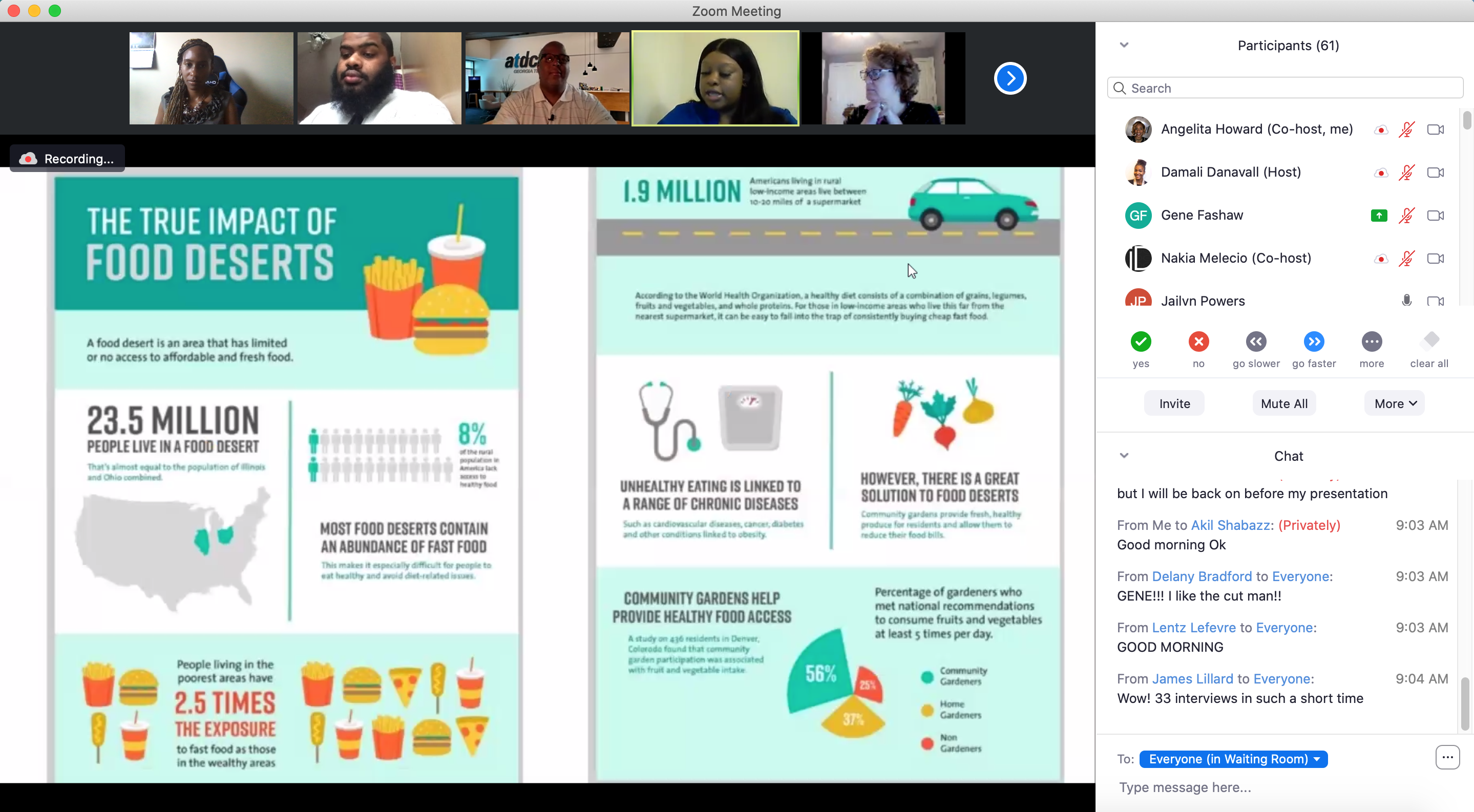 A screenshot of the Morehouse School of Medicine summer biotech bridge program instruction