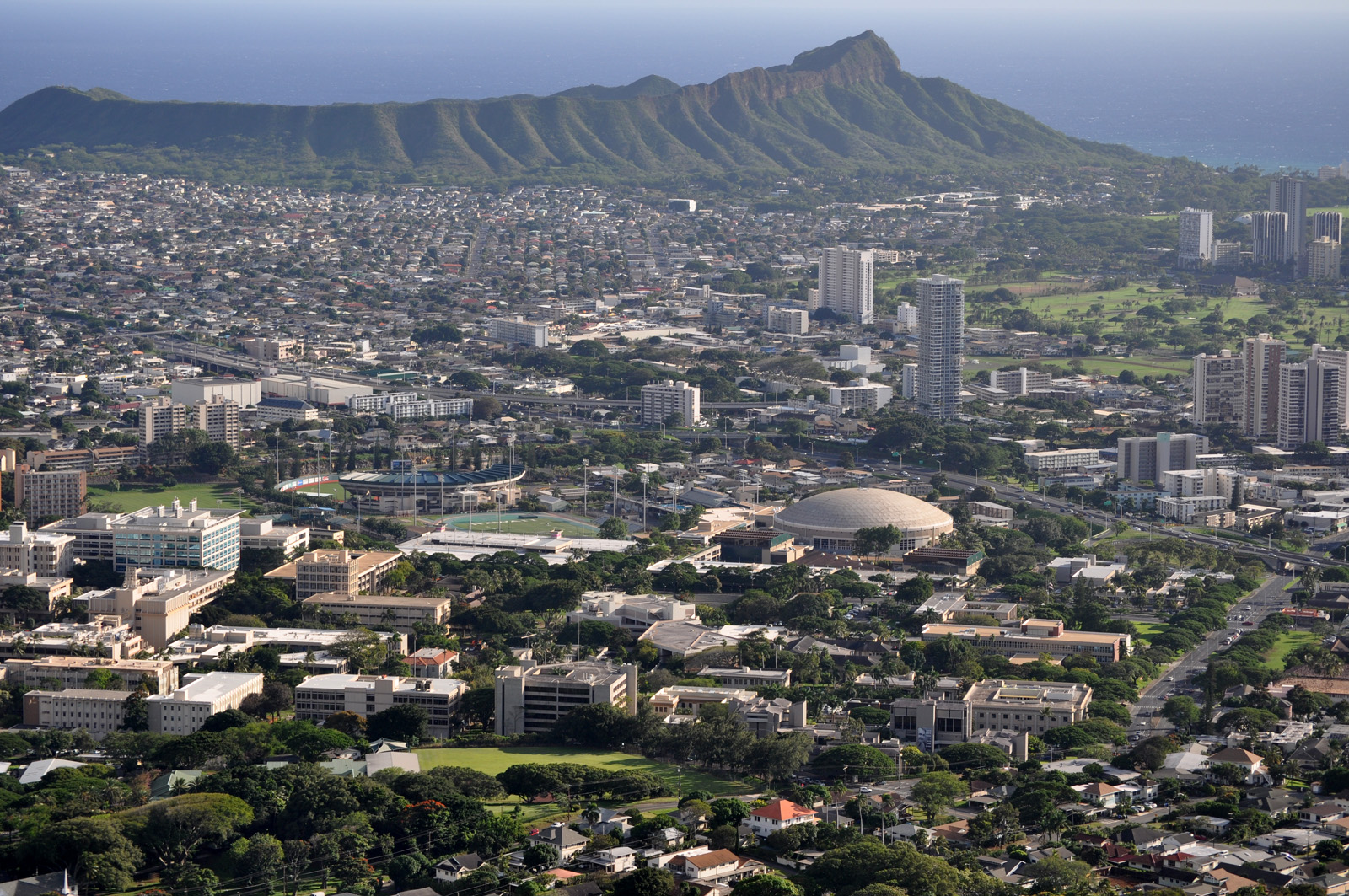 The University of Hawaii campus